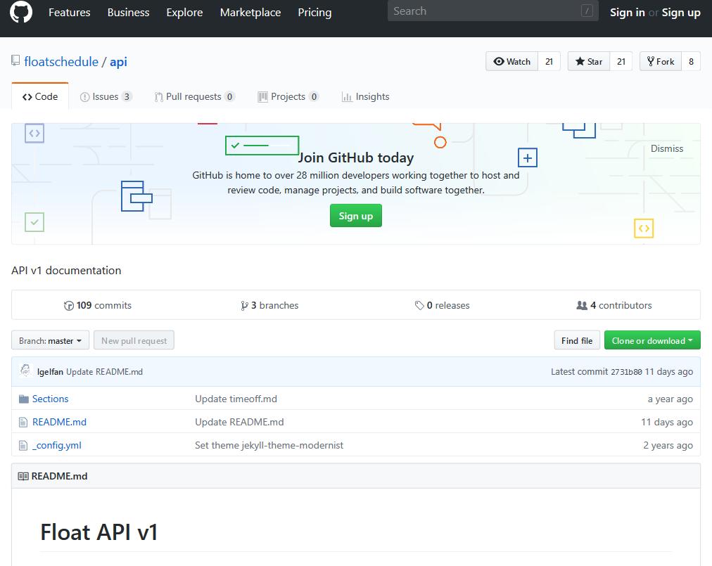 Float API
