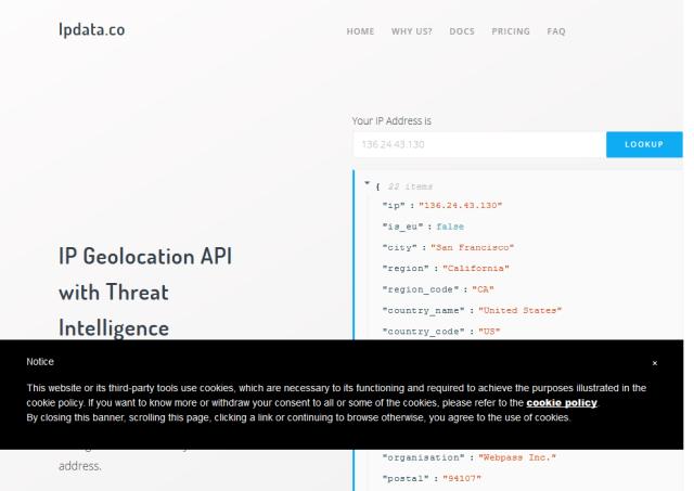 Ipdataco API