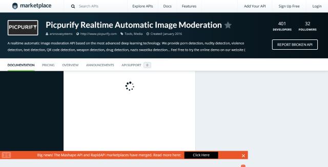 Picpurify Realtime Porn Image Detection API