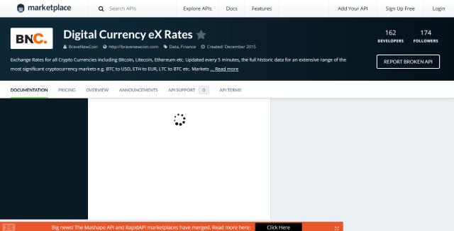 Bnc Digital Currency Exchange Rates Api