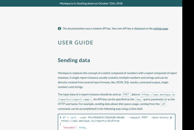 Moniqueio Storage API