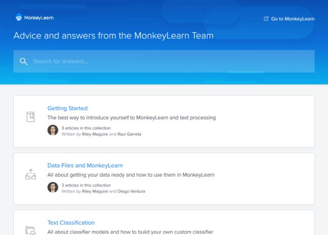 Monkeylearn API