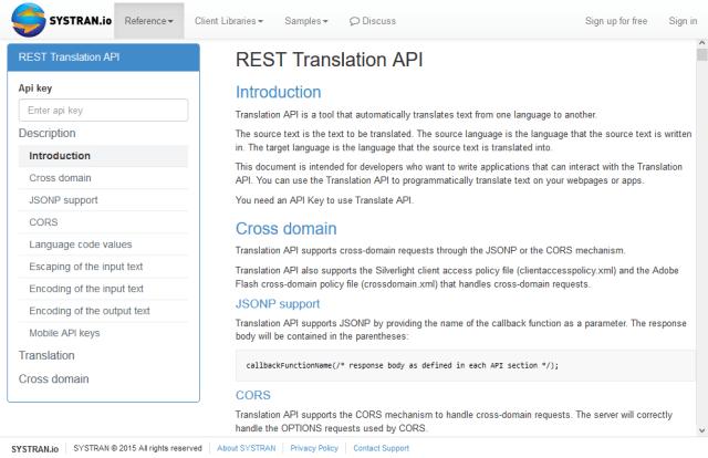 Systran Dictionary API