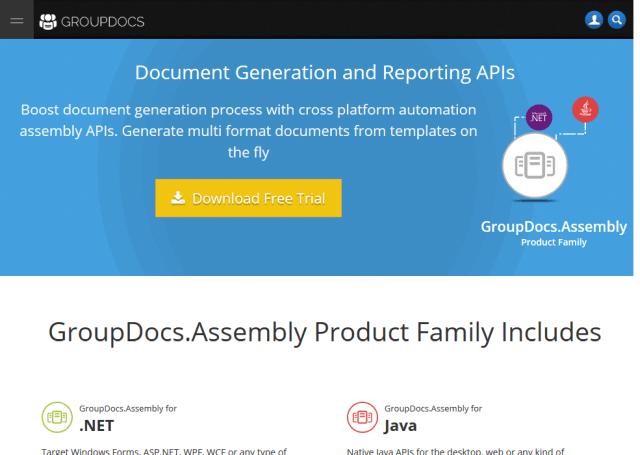 GroupDocs.Assembly .Net API