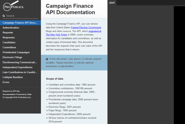 Propublica Campaign Finance API