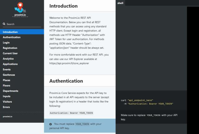 Proximi API