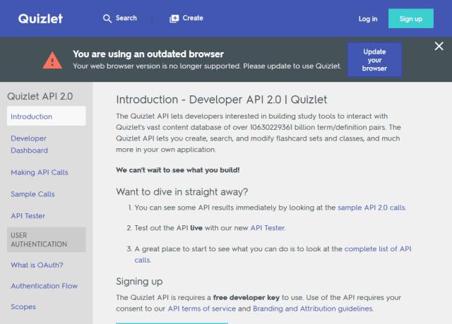 Quizlet Flashcards Api Overview Documentation Alternatives Rapidapi