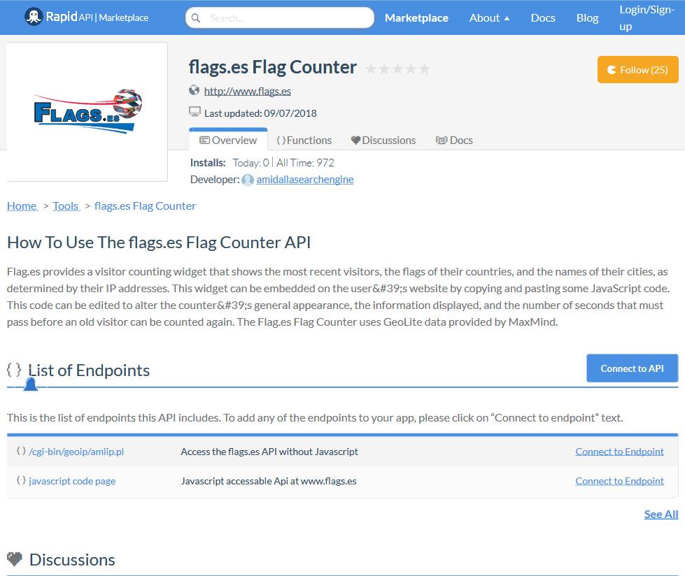 Flags.es Flag Counter API