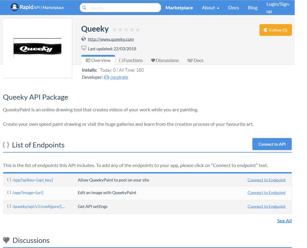 QueekyPaint API