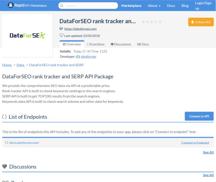 DataForSEO Rank Tracker API