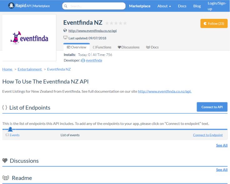 Eventfinda API