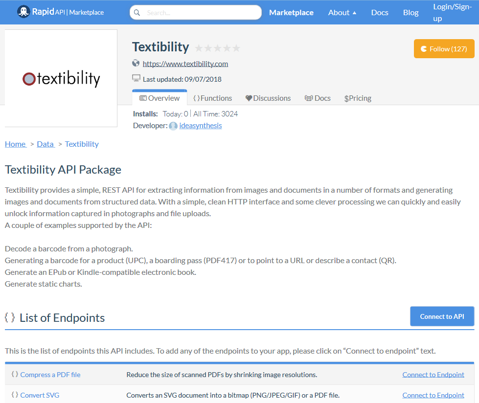 Textibility API (Overview, Documentation & Alternatives
