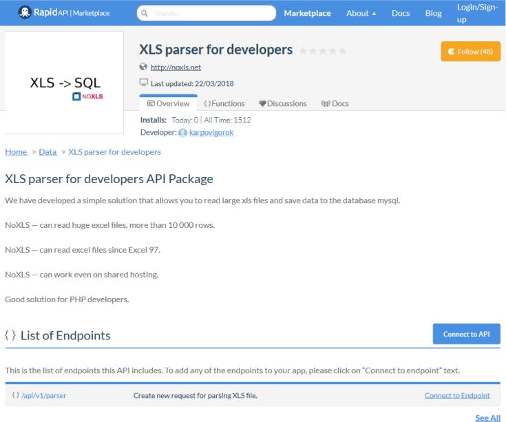 XLS Parser API