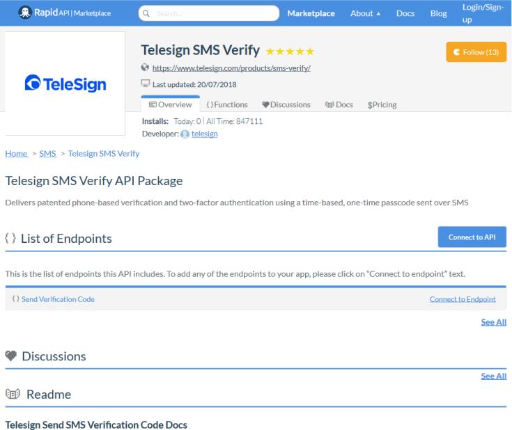 TeleSign Messaging API