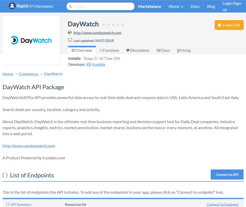 DayWatch API