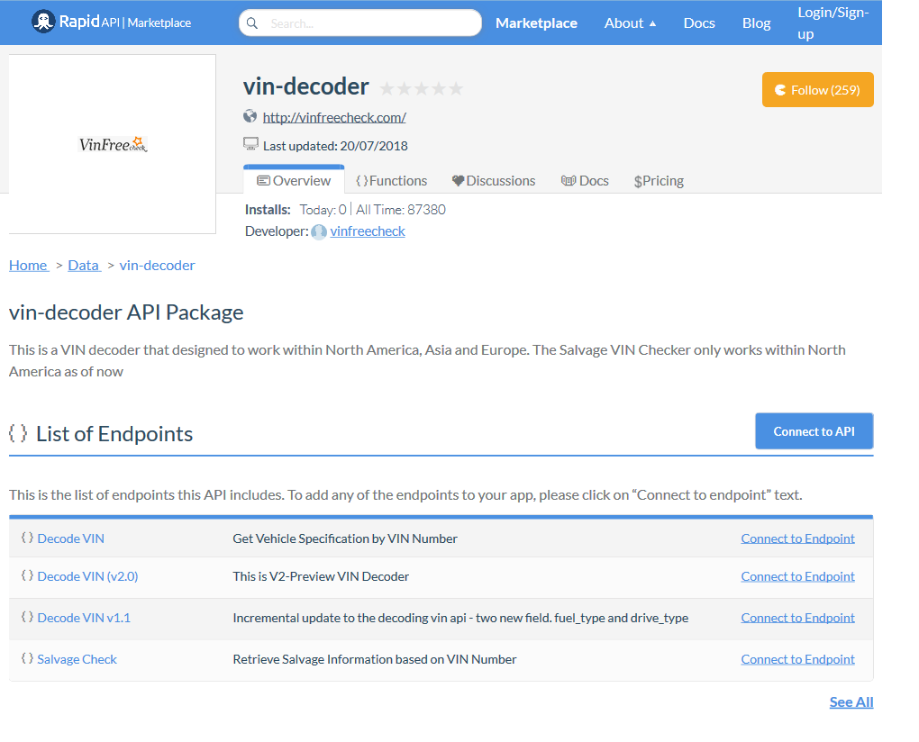 vin-decoder API Documentation