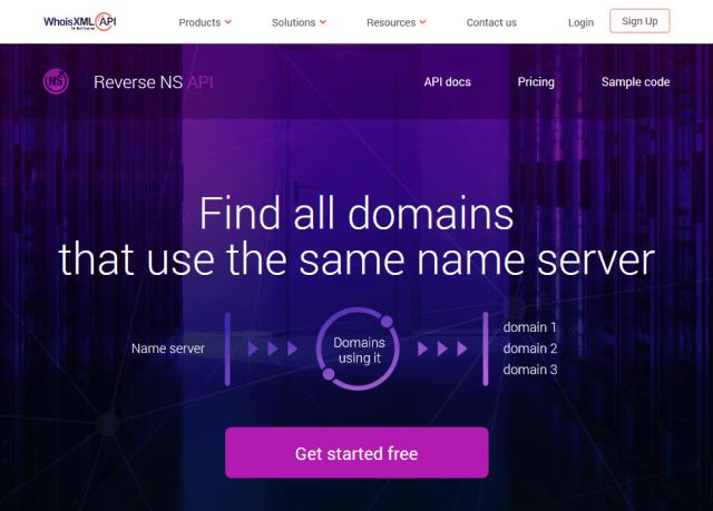 Whoisxml Reverse Ns API