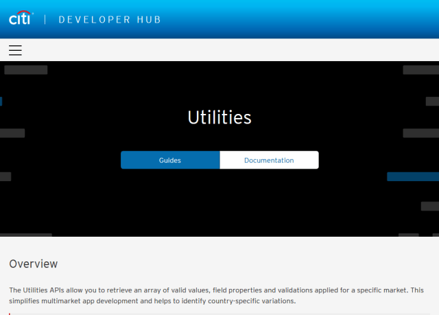 Citibank Utilities API