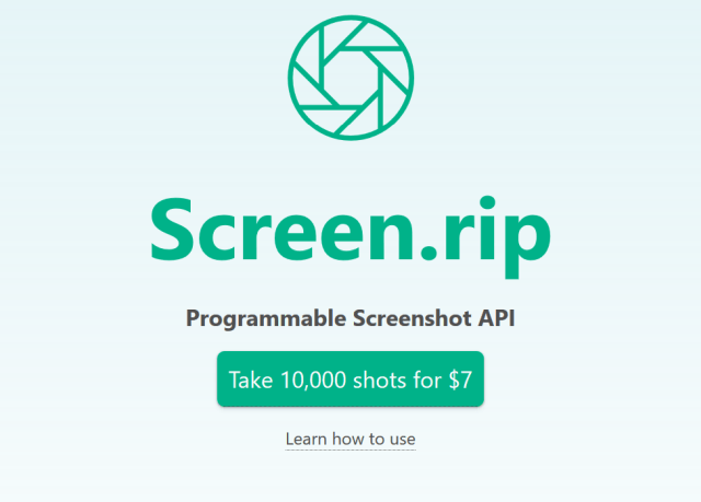 Screenrip API