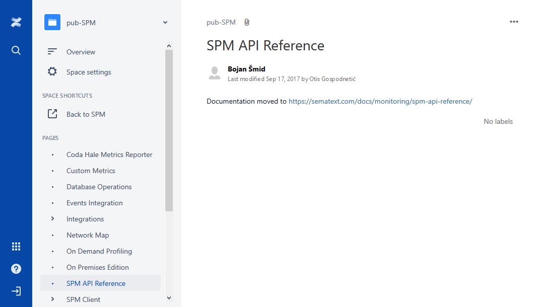 Atlassian Confluence SPM API