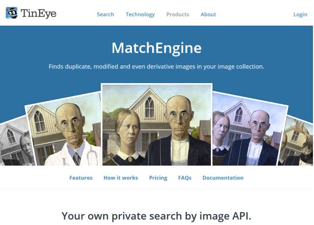 Tineye Matchengine API