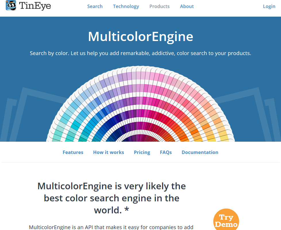 TinEye MulticolorEngine API