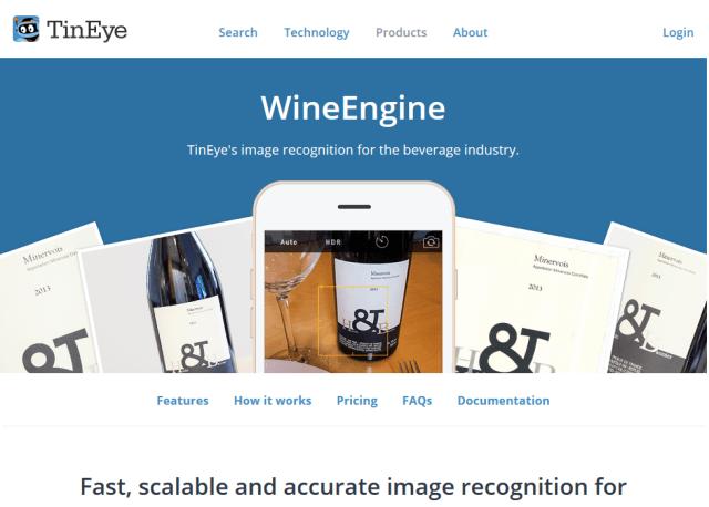 Tineye Wineengine API