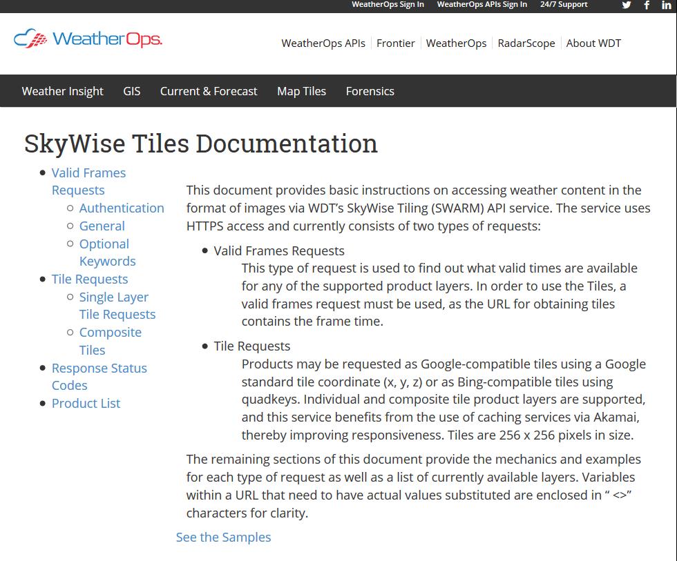 SkyWise Tiles API