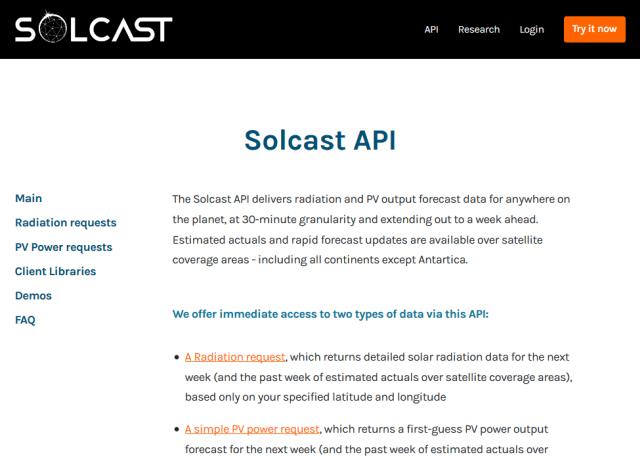 Solcast API