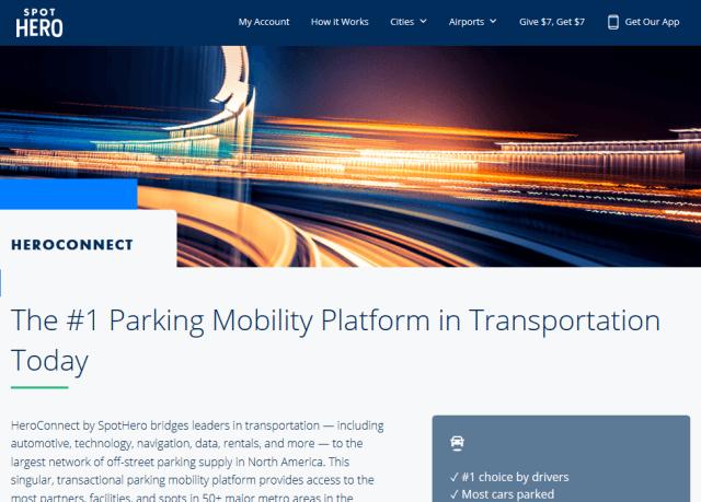 Spothero Parking API