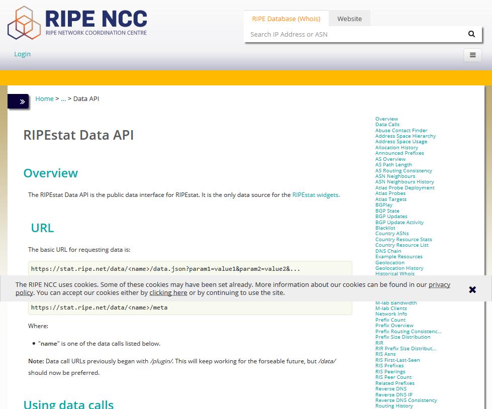 RIPEstat Data API