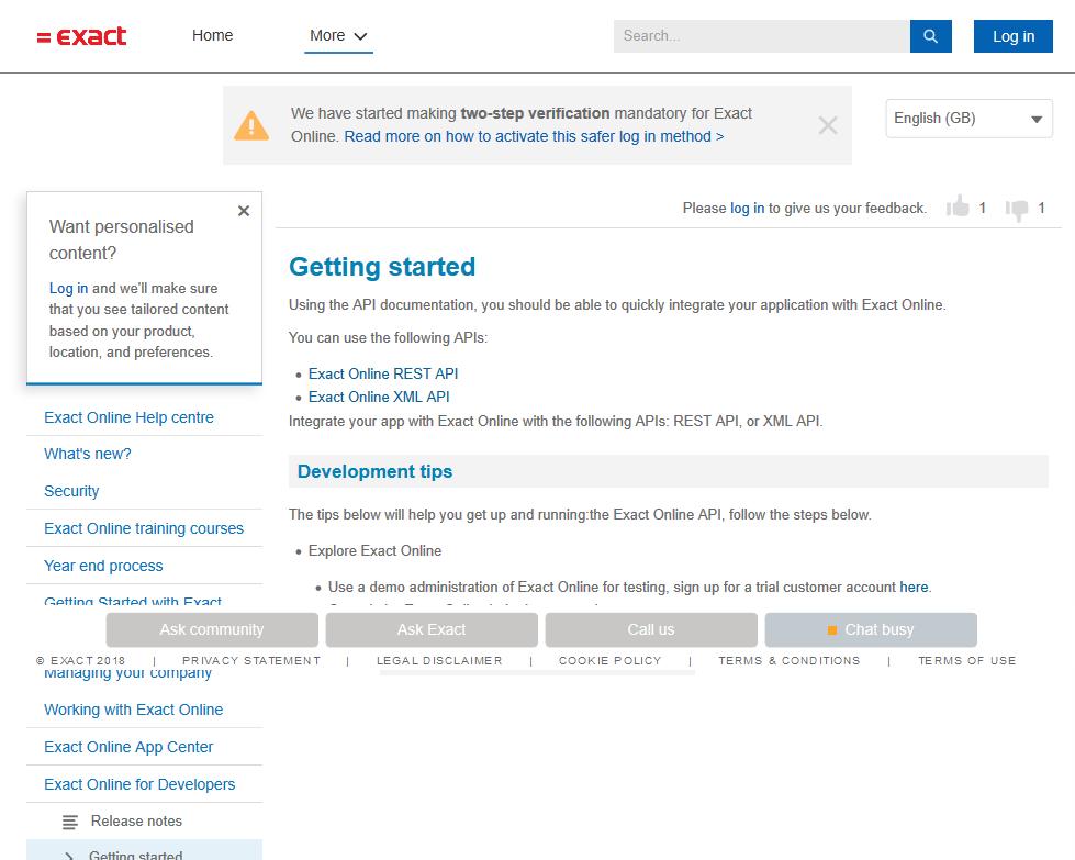 Exact Online API