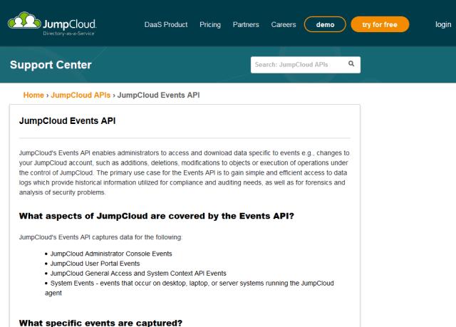 Jumpcloud Events API