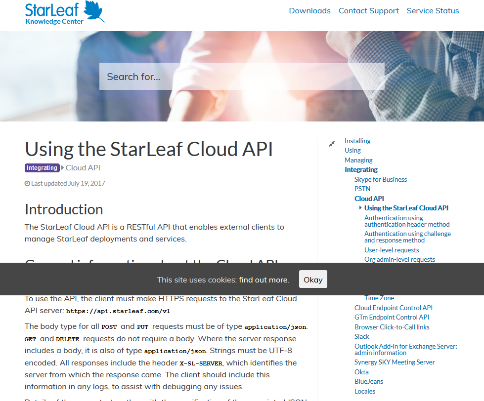 StarLeaf Cloud API