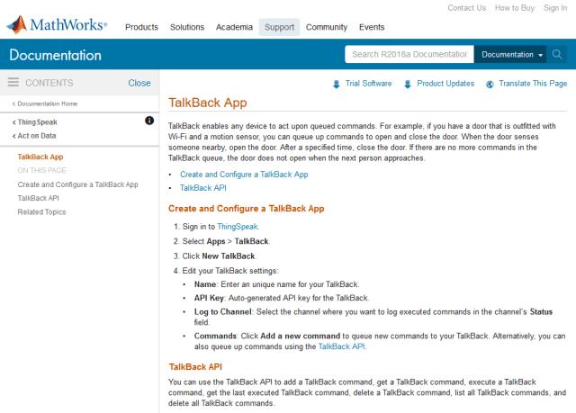 Talkback API