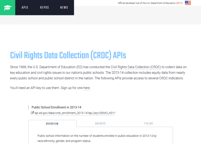 Civil Rights Data Collection Crdc API