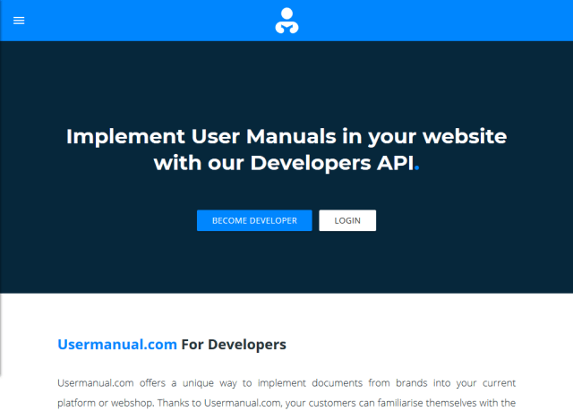 User Manuals API