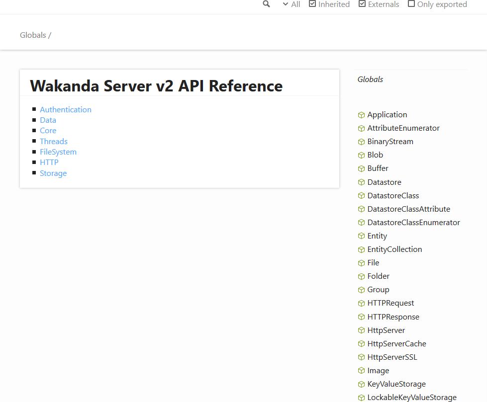 Wakanda SSJS API