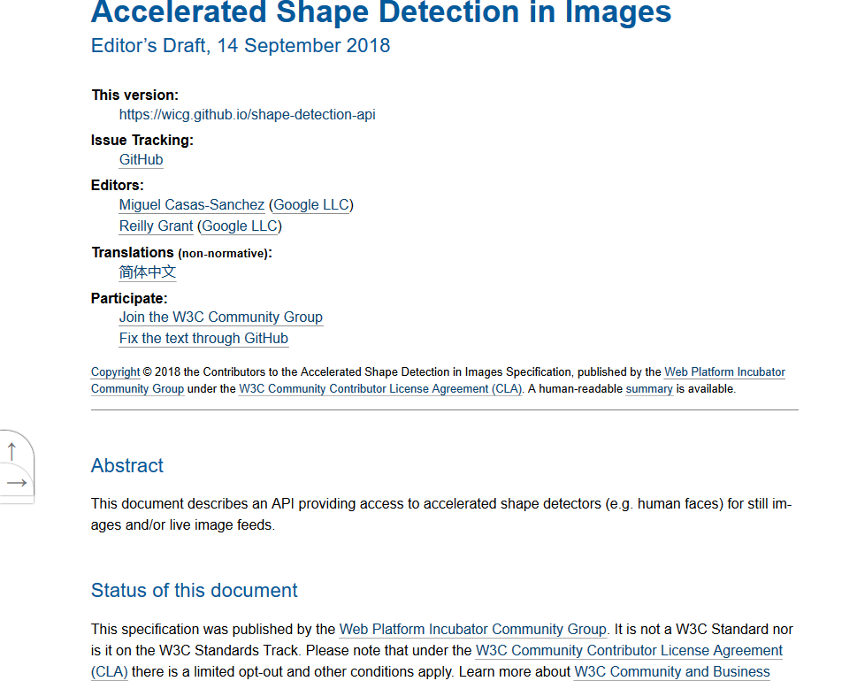 Wicg Shape Detection Api Overview