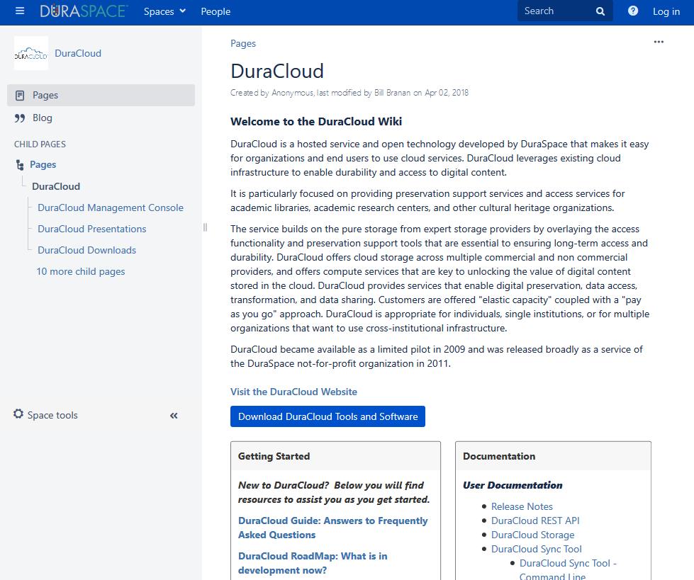Duracloud API