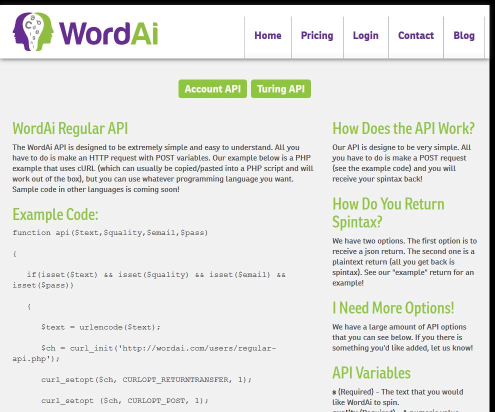 WordAi API