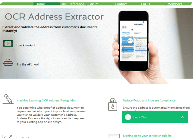 Ocr Address Extractor API