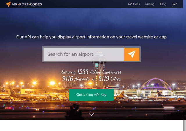Air Port Codes API
