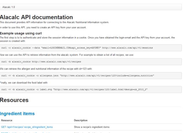 Alacalc API