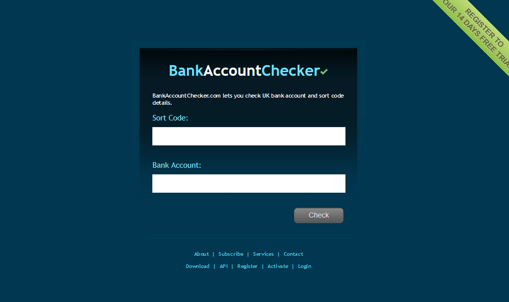 Bank Account Checker Api Overview