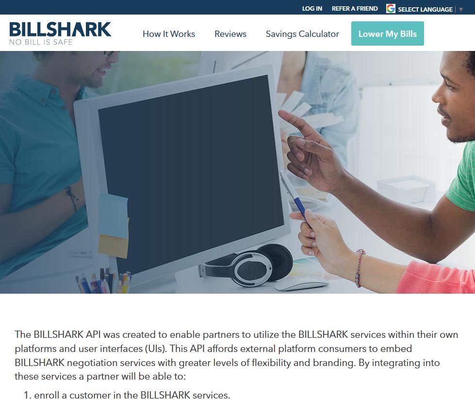 BILLSHARK Shark Connect API