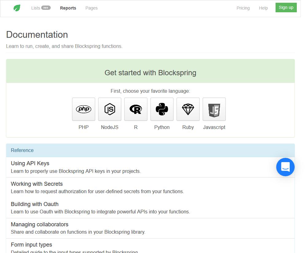 Blockspring API