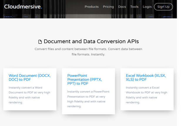 Cloudmersive Document And Data Conversion API (Overview