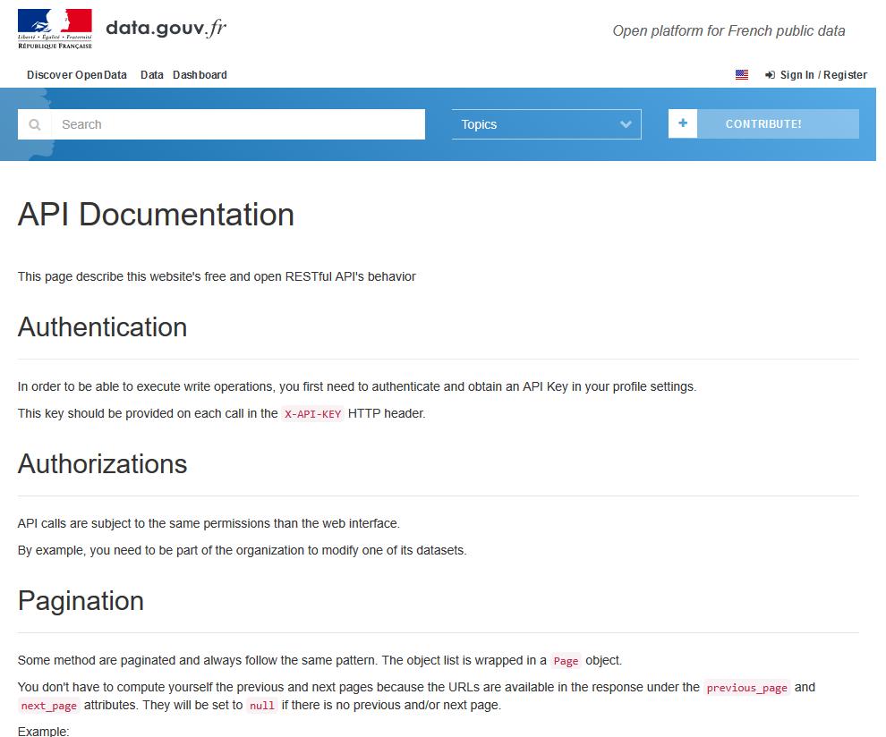 data.gouv.fr API