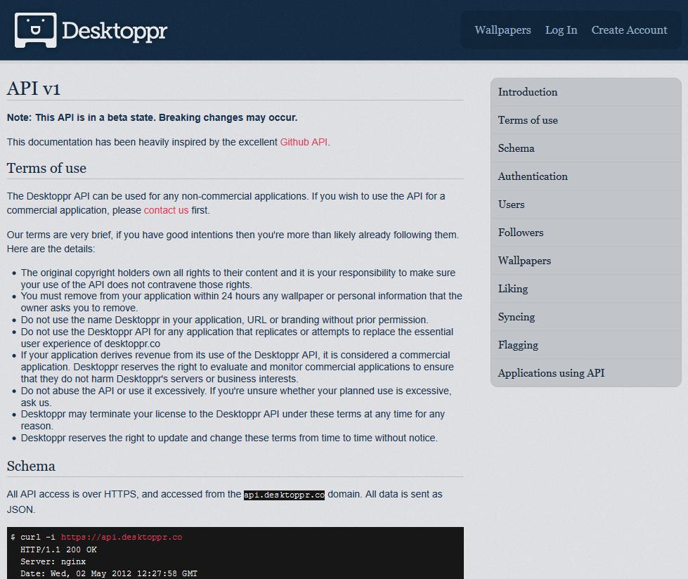 Desktoppr API